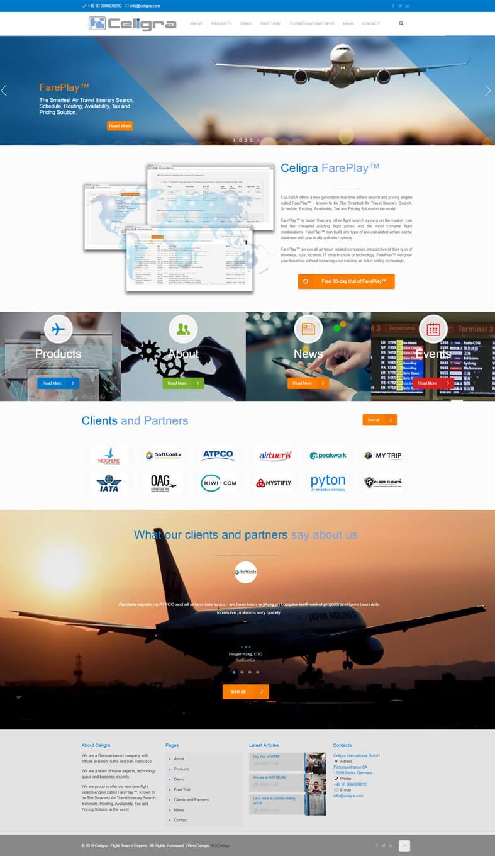 Изработка на сайт за Celigra