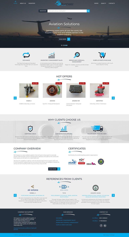 Изработка на дизайн за сайта SWSupport